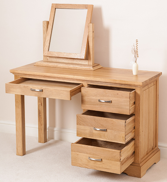 wood 4 drawer dressing table and mirror set bedroom furniture ebay