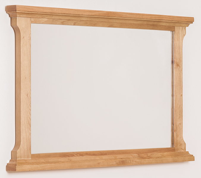 details about aspen solid oak wood wall mirror bedroom furniture