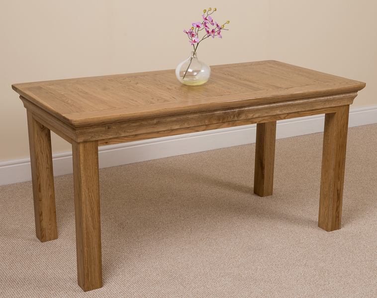dining table this leafless solid oak 5 foot dining table brings rustic