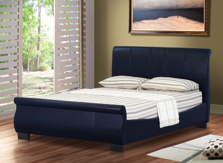 or 5ft kingsize leather bed with mattress bedroom furniture ebay