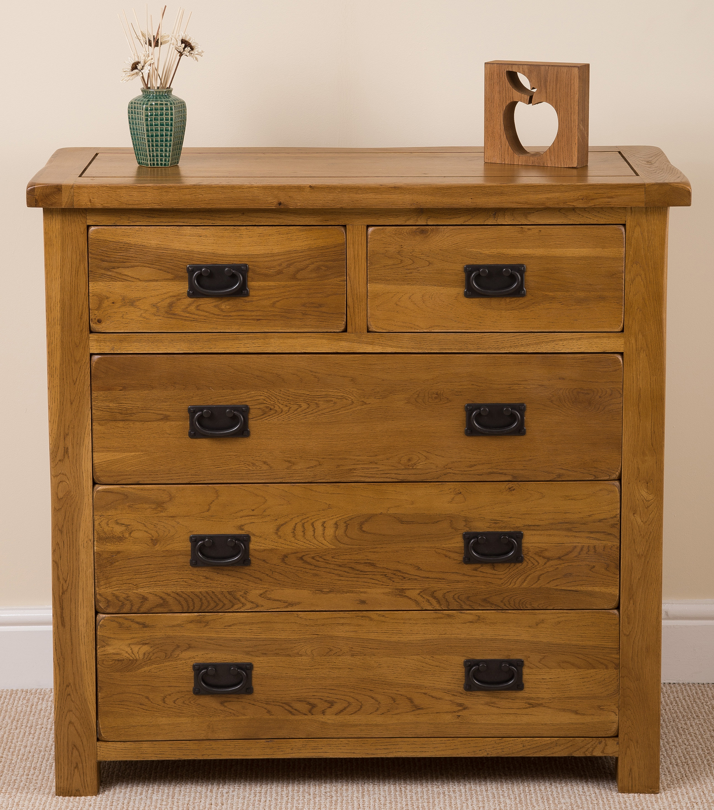 cotswold rustic solid oak 2 3 chest of drawers bedroom furniture new