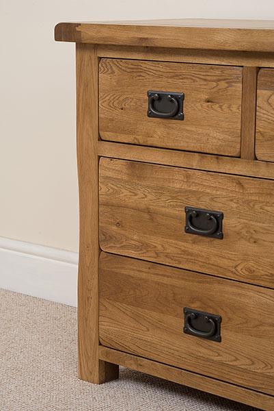 solid oak large chest of 7 drawers unit bedroom furniture ebay