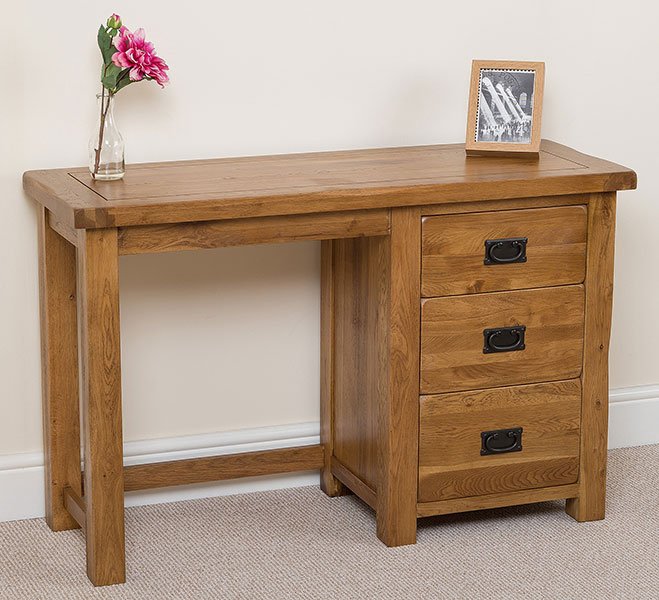 cotswold solid rustic oak wood dressing table wooden bedroom furniture