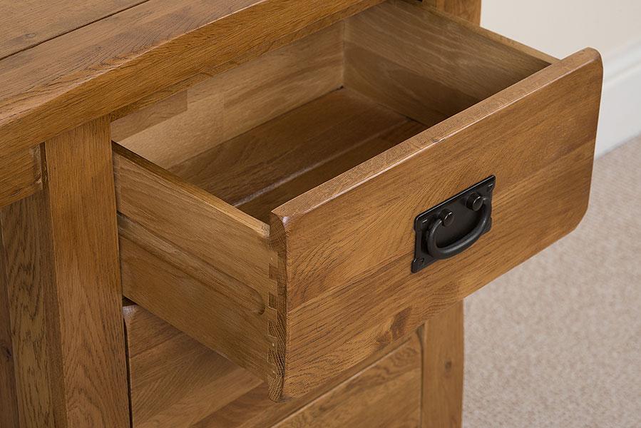 Cotswold Solid Rustic Oak Wood Dressing Table Wooden Bedroom Furniture EBay