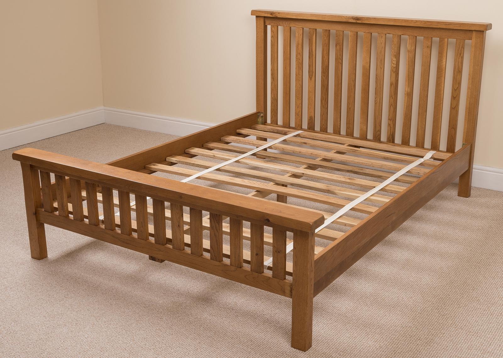COTSWOLD RUSTIC SOLID OAK 5FT KINGSIZE BED FRAME BEDROOM FURNITURE EBay