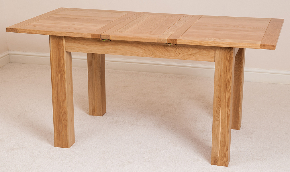 HAMPTON SOLID OAK 120 EXTENDING DINING TABLE WITH 4 OR 6  : hamptontable2 from ebay.co.uk size 1012 x 600 jpeg 484kB